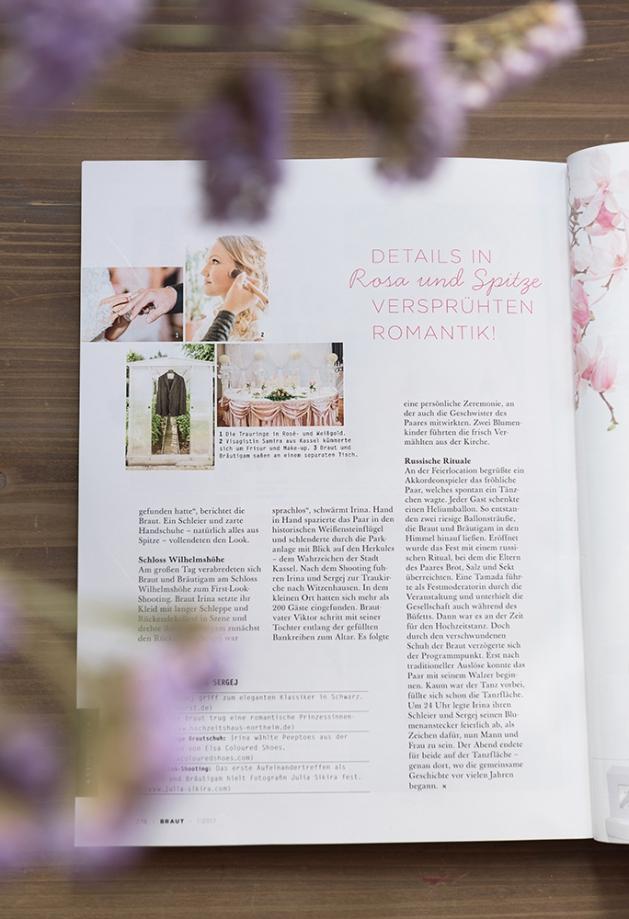 Hochzeitsfotograf Kassel Veröffentlichung im Braut Magazin