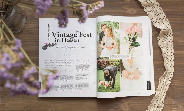 Veröffentlichung Brautmagazin Julia Sikira